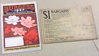 Burgess Seed And Nursery Book Catalog Free Shipping Inv P1152