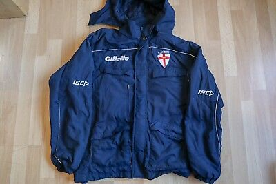 ISC England Rugby League Fleece Lined Stadium Jacket Adult - Small, fits larger