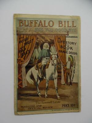 1910 Buffalo Bill Cody Pawnee Bill Wild West Show Program Farewell Tour Antique