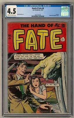 Hand of Fate #8 CGC 4.5 1st Issue Formally Men Against Crime Golden Age Pre Code