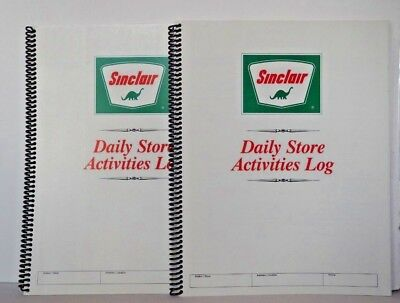 Vintage Sinclair Daily Store Activity Logs Original Unused Oil Gas Station
