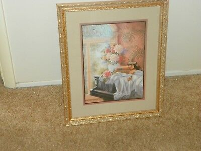 Home interiors picture Floral designs  16 x 20  gold frame