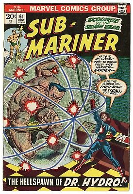 Sub-Mariner #61 VF 8.0 white pages  Marvel  1973  No Reserve