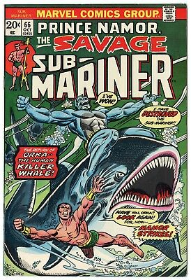 Sub-Mariner #66 VF/NM 9.0 white pages  Marvel  1973  No Reserve