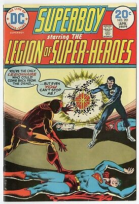 Superboy #201 VF/NM 9.0 white pages  Legion of SH  DC  1974  No Reserve