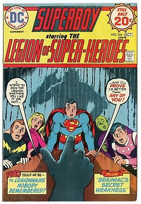 Superboy #204 VF/NM 9.0 off-white pages  Legion of SH  DC  1974  No Reserve