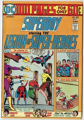 Superboy #205 NM- 9.2 ow/white pages  100 Page Giant  DC  1974  No Reserve