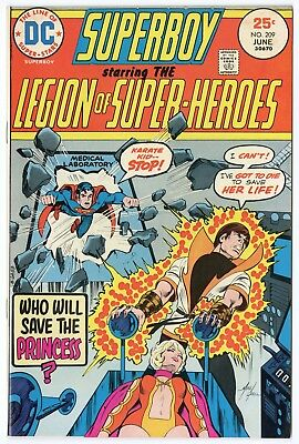 Superboy #209 VF+ 8.5 ow/white pages  Legion of SH  DC  1975  No Reserve