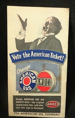 1932 AMOCO The Book of Presidents  - Vote the American Ticket Pamphlet Brochure