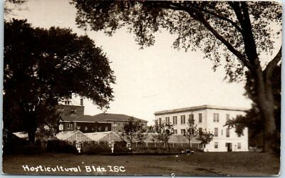 """Iowa State University Ames RPPC Real Photo Postcard """"Horticultural Bldgs I.S.C."""""""