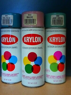 Lot Of Vintage Krylon Spraypaint Cans ~ In Beautiful Condition