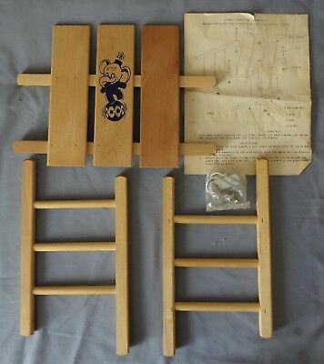 Vintage Wood Children's Sled Guard New In Original Box South Paris Maine