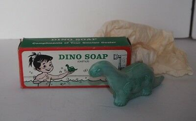 Vintage Sinclair Dino Castile Green Brontosaurus Advertising Soap NIB