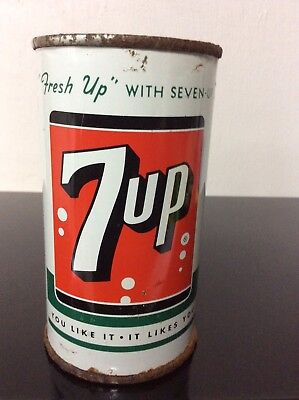 7up Flat Top Can 1950's
