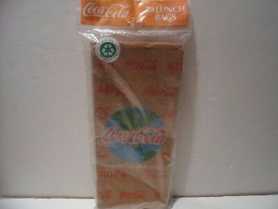 """Coca Cola 20 Lunch Bags 1992  Multiple Languages on Bags """"SHARE CC w WORLD""""  NIP"""