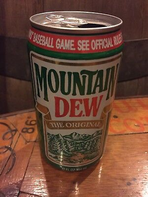 Excellent Original Mountain Dew Outdoors Collector Soda Pop Can NR$9.99EX!