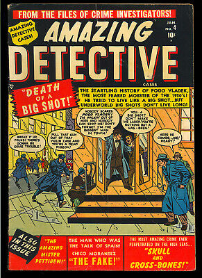 Amazing Detective Cases #4 Nice Pre-Code Golden Age Marvel Atlas 1951 VG-