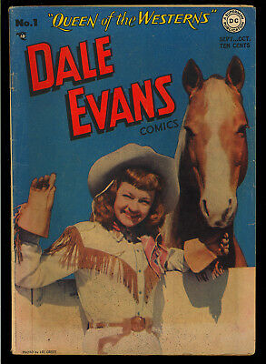 Dale Evans Comics #1 Nice First Issue Photo Cover DC Comic 1948 VG