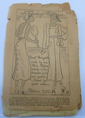 Vintage 1930's Julia Boyd Today's 200 – Sport Frock and Jacket – Size 14