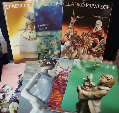 Lot Of 7 LLADRO Privilege Catalog Listing Sales Book Photos Magazine 2005/6/7/8