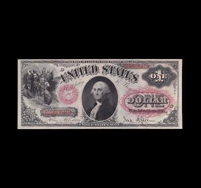 Blazing 1878 $1 Legal Tender Double Red Seal Almost Uncirculated