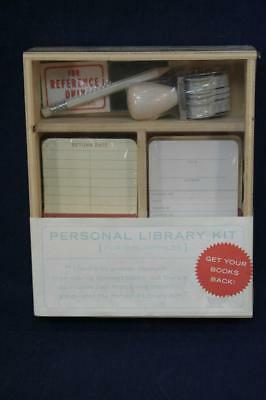 Knock Knock Personal Library Kit-Check Out Cards-NEW & Sealed-Bibliophile