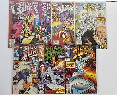 Lot Of 7 Silver Surfer Marvel 1990's Comic Books 30th Anniversary