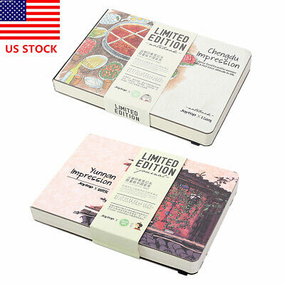 """A5 Sketchbook Hardcover 8.3""""x5.9"""" 146 Sheets White Paper Sketch Book Drawing Pad"""