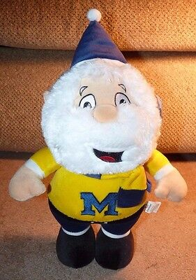 "NEW UofM MICHIGAN WOLVERINES FOOTBALL 15"" SANTA CHRISTMAS BIG 10 GO BLUE VICTORS"