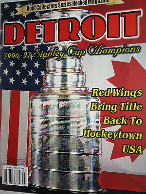 Excellent Condition 96 97 Gold Collectors Magazine DETROIT Red Wings YZERMAN WOW