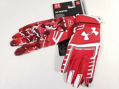 Ua Under Armour Heater Adult Baseball Batting Gloves Red Size Xl 1287826 600