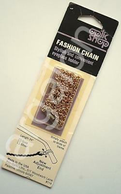 """Eyeglass Holder Fashion Chain Gold Color 24"""" NEW"""