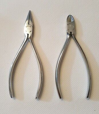 Snap On Vintage Miniature #94 pliers & #184 cutters Chrome Made USA