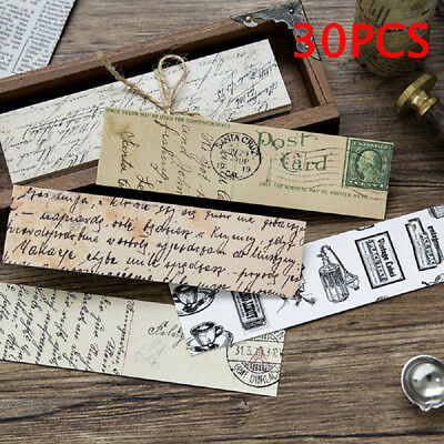 30pcs Retro Collection Famous Words Bookmark Novelty Document Book Marker Label