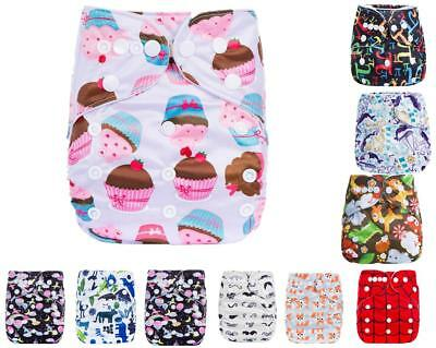 For Newborn Baby Cloth Diapers OneSize Reusable Pocket Nappy+ 1 Insert