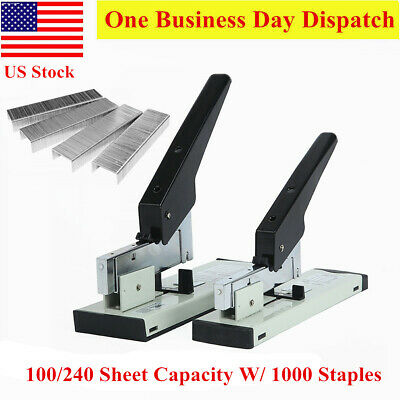 Heavy Duty office Large/Medium Stapler for 100/240 sheets with FREE 1000xStaples
