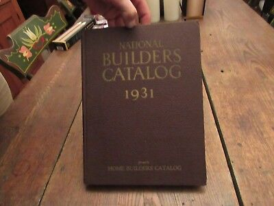 1931 National Builders Catalog Home Architecture Construction Plans Scarce Ads