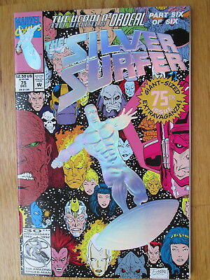 SILVER SURFER #75 * Hearlds Foil Enbossed Double-Sized Issue