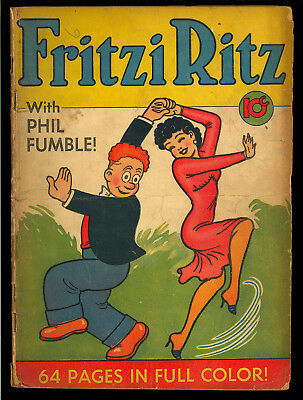 Fritzi Ritz Single Series #5 (Missing CF) Golden Age United Features 1939 GD*
