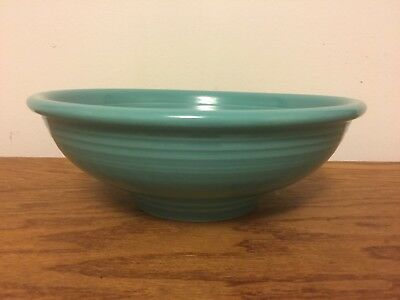 """Fiesta Turquoise 9-1/2"""" Serving Bowl HLC  Pedestal Fiestaware Contemporary Large"""