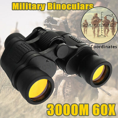 60X Zoom HD Binoculars Night Vision Army Optics Military Telescope Waterproof
