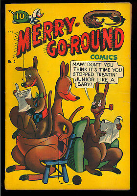 Merry-Go-Round Comics #2 Nice Hard to Find Golden Age Comic 1948 VG+