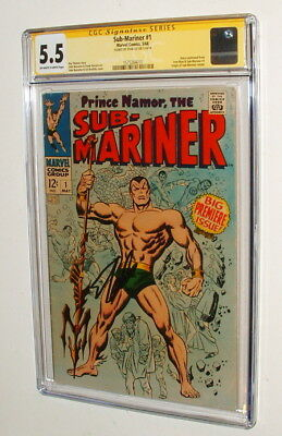 1968 Sub Mariner#1 Comic Book Signed By Stan Lee Signature Series Cgc 5.5 Nice