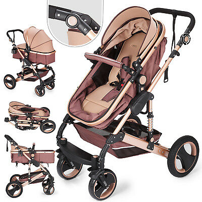 2 in 1 Baby Stroller Buggy Kids Pram Pushchair Convertible Foldable Reversible