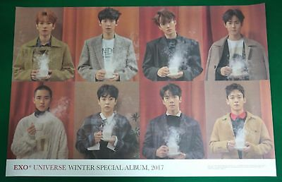 Exo - UNIVERSE 2017 Winter Special Album Unfolded Poster HARD TUBE CASE