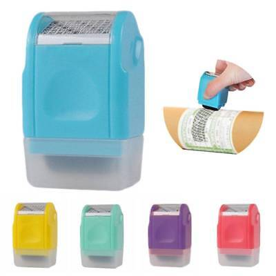 Roller Garbled Code Security Stamp Protect ID Identity Anti Theft Office Supply
