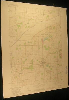North Liberty Indiana Crumstown 1980 vintage USGS original Topo chart map
