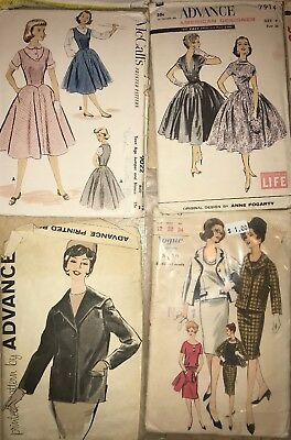 42 Vintage Sewing Patterns Vogue Mccalls Simplicity Advance