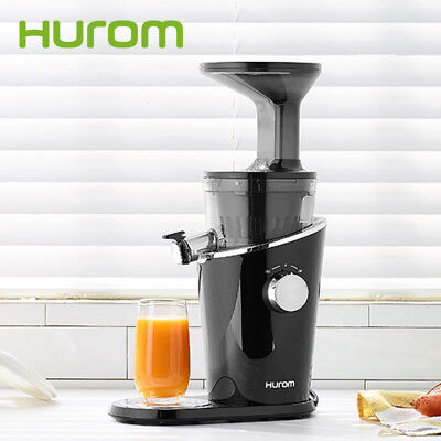 New HUROM Diva H-100 Slow Juicer Fresh Extractor Squeezer (Black) for 220~240V