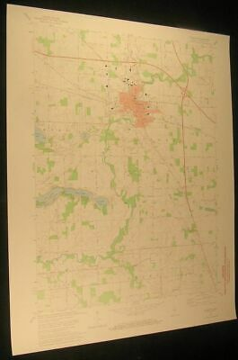 Plymouth Indiana Breeding Ditch 1974 vintage USGS original Topo chart map